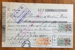CAMBIALE WECHSEL PARIS  MAGGIO 1920    CON  MARCHE DA BOLLO  TIMBRI FIRME - Cambiali