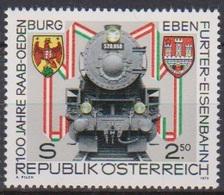 Österreich 1979 Nr.1627 ** Postfr. 100 Jahre Raab-Oedenburg-Ebenfurter Eisenbahn ( 3042a ) Günstige Versandkosten - 1971-80 Neufs