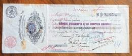 CAMBIALE WECHSEL LIEGE LIEGI 1890  FABRIQUE DE TUILES   CON FRANCOBOLLO COME  MARCHE DA BOLLO  TIMBRI FIRME - Cambiali