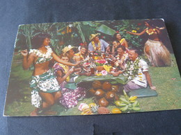 1951 ANCIENT BEAUTIFUL SMALL POSTCARD OF SAMOA  / ANTICA  PICCOLA CARTOLINA  VIAGGIATA DI SAMOA - American Samoa