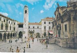Postcard Dubrovnik The Sponza Palace And The Church Of St Vlaho Croatia My Ref  B22909 - Croatia
