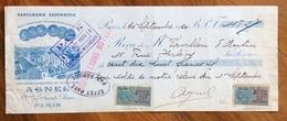 PROFUMI CAMBIALE WECHSEL PARIS 1920   PARFUMERIE SAVONNERIE   CON   MARCHE DA BOLLO  TIMBRI FIRME - Cambiali