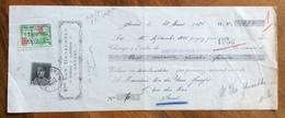 CAMBIALE WECHSEL ANVERSA ANVERS 1931   CON   MARCHE DA BOLLO+ FRANCOBOLLO   TIMBRI FIRME - Cambiali