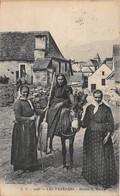 Les Pyrénées - Retour Du Marché - âne - Francia