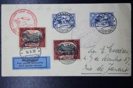 Liechtenstein: Zeppelin  Sieger 57 E, Triesenberg - Rio De Janeiro  1930 Mi Nr 71 X2 + 60 A X 2 - Liechtenstein