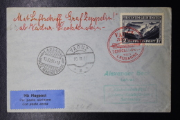 Liechtenstein: Graf Zeppelin  Sieger 110 B , Vaduz -> Lausanne -> Schlesien  Fahrt  Triesenberg  Mi 115 1931 - Liechtenstein