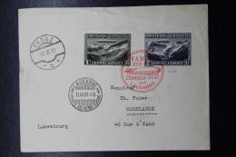 Liechtenstein: Graf Zeppelin  Sieger 110 C , Vaduz -> Lausanne -> Rumelange  Mi 114  + 115 1931 - Liechtenstein