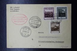 Liechtenstein: Graf Zeppelin  Sieger 123 , Vaduz -> Friedrichshafen  Mi 103 + 104 + 105 - Briefe U. Dokumente