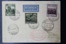 Liechtenstein: Graf Zeppelin  Sieger 127 , Vaduz -> Zürich  Mi 95 + 112 + 104    1931 - Liechtenstein