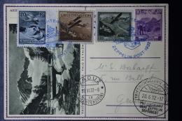 Liechtenstein: Graf Zeppelin Sieger 251 , Vaduz -> Geneve  Mi 109 + 110 + 112    1932 Mi Flucht 7 CV 1000 Euro - Liechtenstein