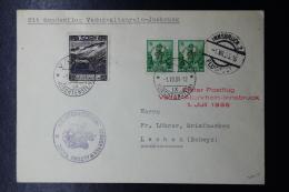Liechtenstein: Luftpost Sonderflug  Erster Vaduz-Altenrain-Insbrück    Mi D11 + D6   1935 - Liechtenstein