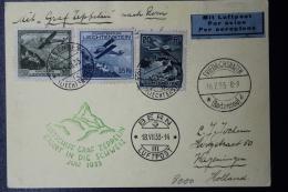 Liechtenstein: Graf Zepplein  Sieger 321 Fahrt In Der Schweiz  Mi 109 + 111 + 112  1933  Mi Fl. 70 CV 1000 Euro - Liechtenstein