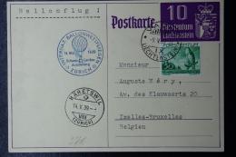Liechtenstein: Ballonflug Zürich -> Bäretswil   Mi  177 Postkarte Mi 17 - Briefe U. Dokumente