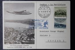 Liechtenstein Hydravion  Vaduz - Zürich - Martinque  1948 - Liechtenstein