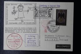 Liechtenstein Ballonpost  Weggis / Vaduz Leiden Holland  1956 - Liechtenstein