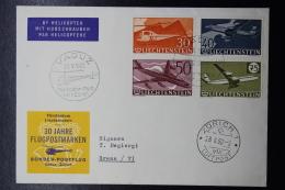 Liechtenstein Helicopter Post Nach Vaduz - Zürich -   1980  Mi 391 - 394 - Briefe U. Dokumente