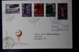Liechtenstein Ballonpost Vaduz - Appenzell - Gibswil 1959 - Liechtenstein