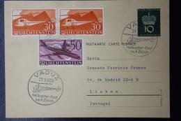 Liechtenstein Helicopter Post Vaduz - Zurich - Lisboa  Poretugal 1960 - Briefe U. Dokumente