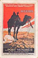 Publicité   Affiche De Chemin De Fer  Paris Orléans Via Port-Vendres Algéria  Illustrée Par ???  (voir Scan) - Publicité