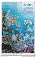 GUATEMALA, 2015, MNH, REEF ECOSYSTEM, TURTLES, FISH, LOBSTERS, CORALS, FISH, SHEETLET - Turtles