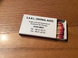 Boîte D'allumettes Seita PUBLISTIP «SARL CENTRAL AUTO BREST (29) / AUTO PLUS 1996 - GARAGE CONFIANCE» - Boites D'allumettes