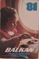 1981 - Bulgarian Airlines - Balkan - Calendari