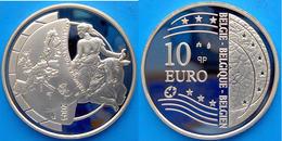 BELGIO 10 E 2004 ARGENTO PROOF EUROPA SUL TORO UNIONE EUROPEA PESO 22,85g. TITOLO 0,925 CONSERVAZIONE FONDO SPECCHIO UNC - Belgio