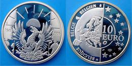 BELGIUM 10 E 2005 ARGENTO PROOF SILVER EURO 1945 FREEDOM AND PEACE BELGIE PESO 18,75g. TITOLO 0,925 CONSERVAZIONE FONDO - Belgium