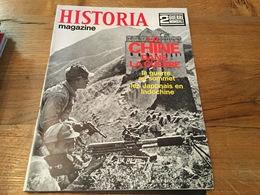 162/ HISTORIA MAGAZINE 2EME GUERRE MONDIALE N° 60 LA CHINE EN GUERRE LA GUERRE AU SOMMET LES JAPONAIS EN INDOCHINE - Guerre 1939-45