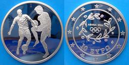 GREECE 10 E 2004 ARGENTO PROOF SILVER EURO ATHENS 2004 ANCIENT FOOTBALL PESO 34g TITOLO 0,925 CONSERVAZIONE FONDO SPECCH - Finlandia