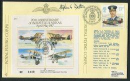 1987 GB RAF Royal Flying Corps, BFPS Farnborough Signed Flight Cover. Battle Of Arras WW1 - 1952-.... (Elizabeth II)