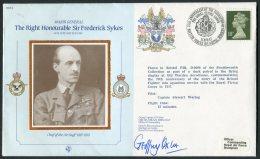 1987 GB RAF Brampton BFPS Signed Flight Cover. Sir Frederick Sykes, Royal Flying Corps - 1952-.... (Elizabeth II)