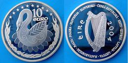 IRELANDL 10 E 2004 ARGENTO PROOF SILVER PAESI DELL'UNIONE CIGNO SWAN PESO 28,28g TITOLO 0,925 CONSERVAZIONE FONDO SPECCH - Irlanda