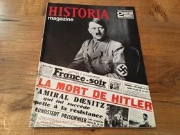 162/ HISTORIA MAGAZINE 2EME GUERRE MONDIALE N° 93 LA MORT DE HITLER - Weltkrieg 1939-45