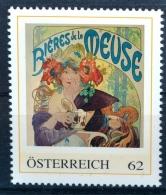 SPECIAL EDITION AUSTRIAN POST - E649  Plakat Bieres De La Meuse, Bier, A. Mucha, Jugendstil Art Nouveau, AT12** - Österreich