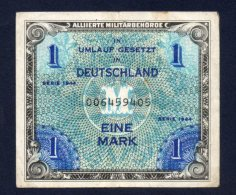 Banconota Germania - 1 Mark - 1944 Occupazione - Circolata - [ 4] 1933-1945 : Terzo  Reich
