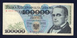 Banconota Polonia 100.000 Zlotych 1/2/90 Circolata - Pologne