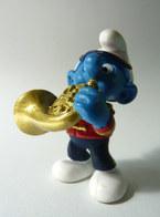 FIGURINE SCHTROUMPF MUSICIEN DE L'ORCHESTRE JOUEUR DE COR SCHLEICH 2001 - Smurfs