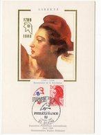 Carte Maximum 1987 -  PhilexFrance 1989  -YT 2461 -07/03/1987 Dijon (réf A0122 ) - 1980-89