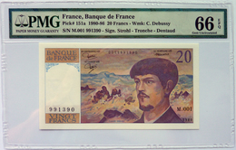 France 20 Francs 1980 P151a Graded 66EPQ (GEM Uncirculated) By PMG - 1962-1997 ''Francs''
