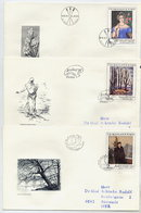 CZECHSLOVAKIA 1985 National Gallery Paintings On 5 FDCs.  Michel 2841-45 - FDC