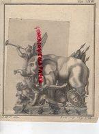 RARE GRAVURE ANCIENNE ELEPHANT- LUCIUS SCULPTEUR PLISIP 1796- J.M.C. DELIN - Estampes & Gravures