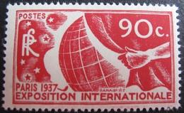 DF/1044 - EXPOSITION INTERNATIONALE DE PARIS 1937 - N°326 NEUF** - Cote : 33,00 € - France