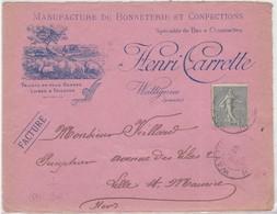 Devant - WATTIGNIES  1903 - Marcophilie (Lettres)