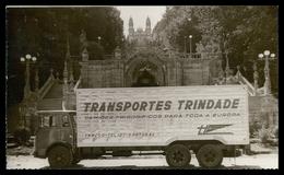 LAMEGO - PUBLICIDADE -«Transportes Trindade »-Camiões Frigoríficos Para Toda A Europa.  Carte Postale - Viseu