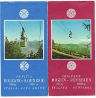SEILBAHN  BOZEN - JENESIEN     PROSPEKT - FALTBLATT  ~  1960 - Folletos Turísticos