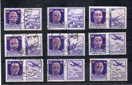 Italia - 1944/1945 - R.S.I. - Lotto 9 Francobolli Di Propaganda Da 50 Centesimi Sovrastampati -  Usati - (FDC11687) - 4. 1944-45 Repubblica Sociale