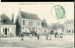 72 - SAINT JEAN DES ECHELLES - La Place Et La Rue Principale  ***Café Du Midi *** - France