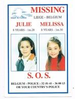 B-6829   JULIE And MELISSA Missing ( Marc Dutroux) - Belgio