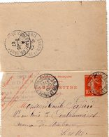 TB 2344 - Entier Postal - VERDIER Coiffeur - MP BATON BAZOCHES 1907 Pour COULOMMIERS - Postal Stamped Stationery